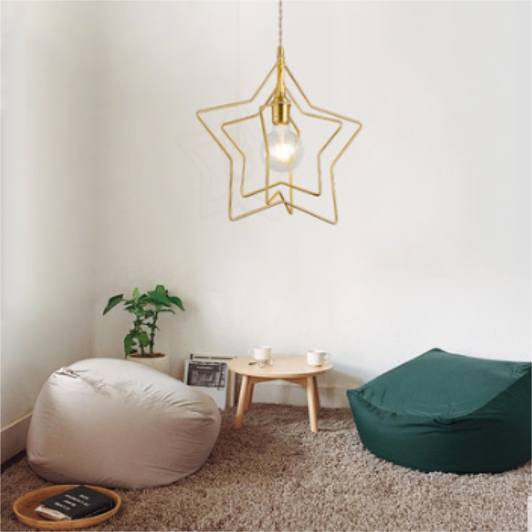 Gold Iron Hanging Light